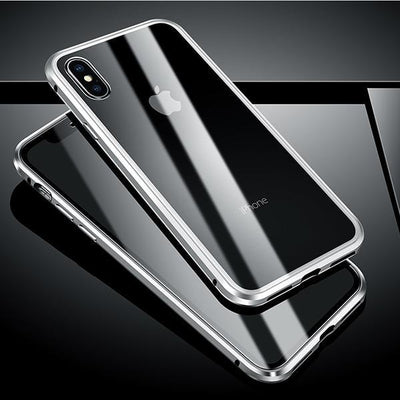 My Envy Shop Silver / For iphone 7 8 plus Luxury 360 Degree Full Protection Cover Double sided glass Magnetic case For iPhone