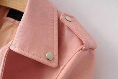 My Envy Shop Spring Fashion Bright Colors Good Quality Ladies Basic Street Women Short PU Leather Jacket FREE Accessories