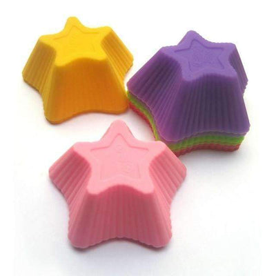 My Envy Shop star shape 12pcs 4 cute shape SiliconeCupcake
