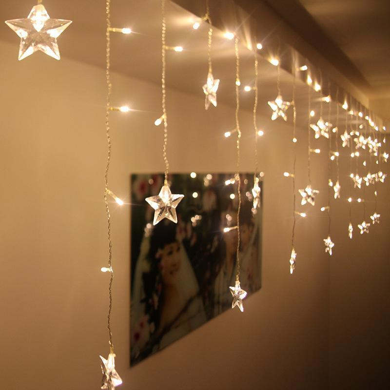 My Envy Shop Star String Curtain Lights Room Decoration