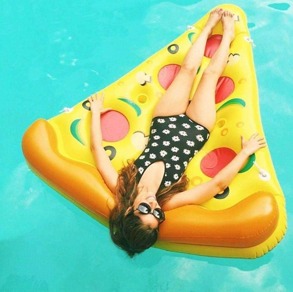 My Envy Shop Summer Pizza 72 inch 1.8M Inflatable Pool Floats Swimming Party