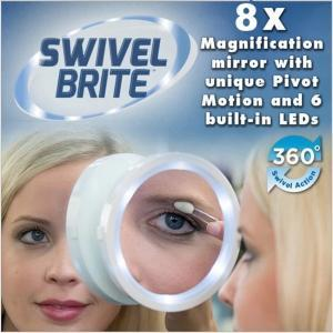 Swivel Brite LED Magnetic Mirror 8x - As Seen On TV