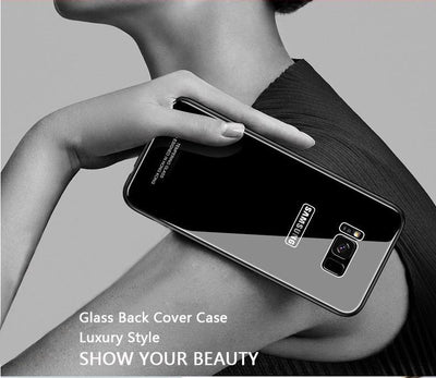 My Envy Shop Tempered Glass Case for Samsung S 8 9 + Note 8 Back Cover
