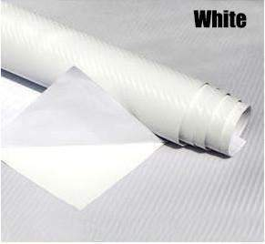 My Envy Shop White 3D Carbon Fiber Vinyl Car Wrap Sheet Roll Film,Car Styling Accessories ,30cmx127cm