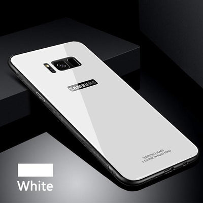 My Envy Shop White / Samsung NOTE 8 Tempered Glass Case for Samsung S 8 9 + Note 8 Back Cover