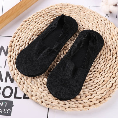 2 Pairs Women Short Antiskid Invisible Ankle Socks