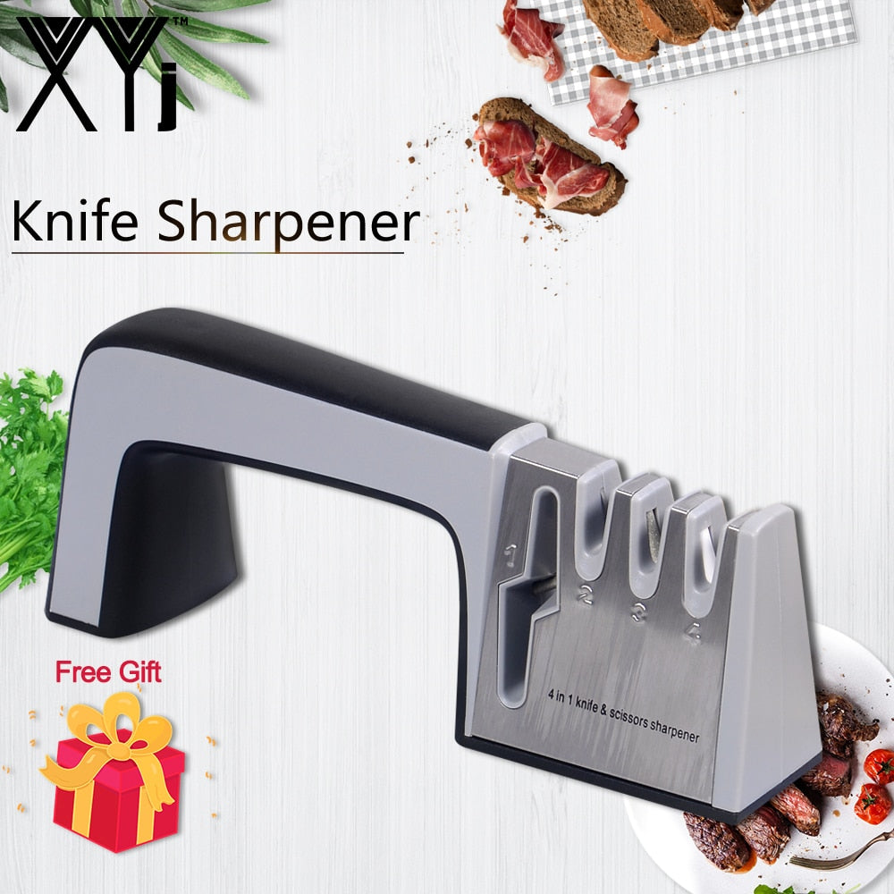 Knife Sharpener 4 in 1 Diamond Coated