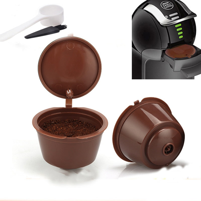 Coffee capsule compatible with nestle machine