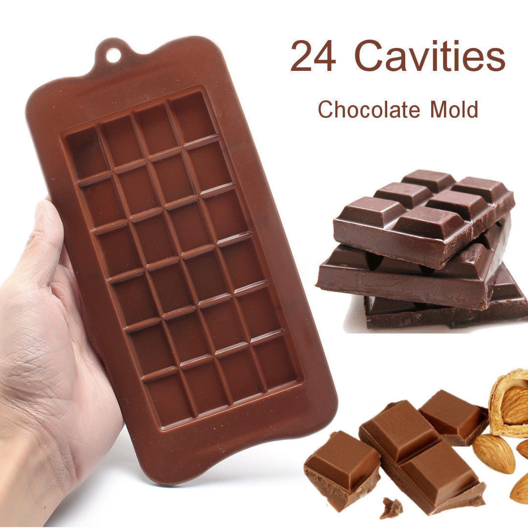 24 Grid Square Chocolate Mold silicone mold dessert block mold Bar