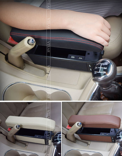 Universal Armrest box with USB Charging
