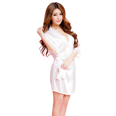 Hot Women Fashion Classic Bathrobe Pure Role-playing Sexy Lingerie Wild Temptation
