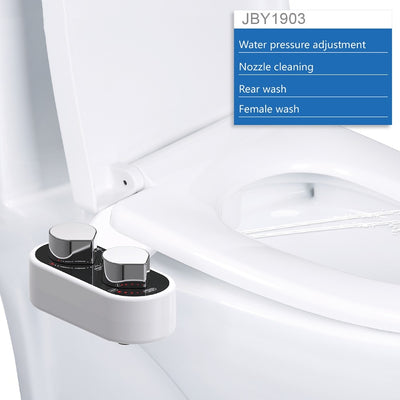 Non-Electric Toilet Seat Bidet Self-Cleaning