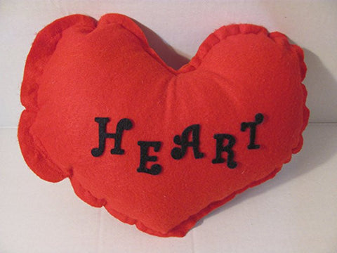 Heart-Shaped Pillow with Custom Name, Word or Logo