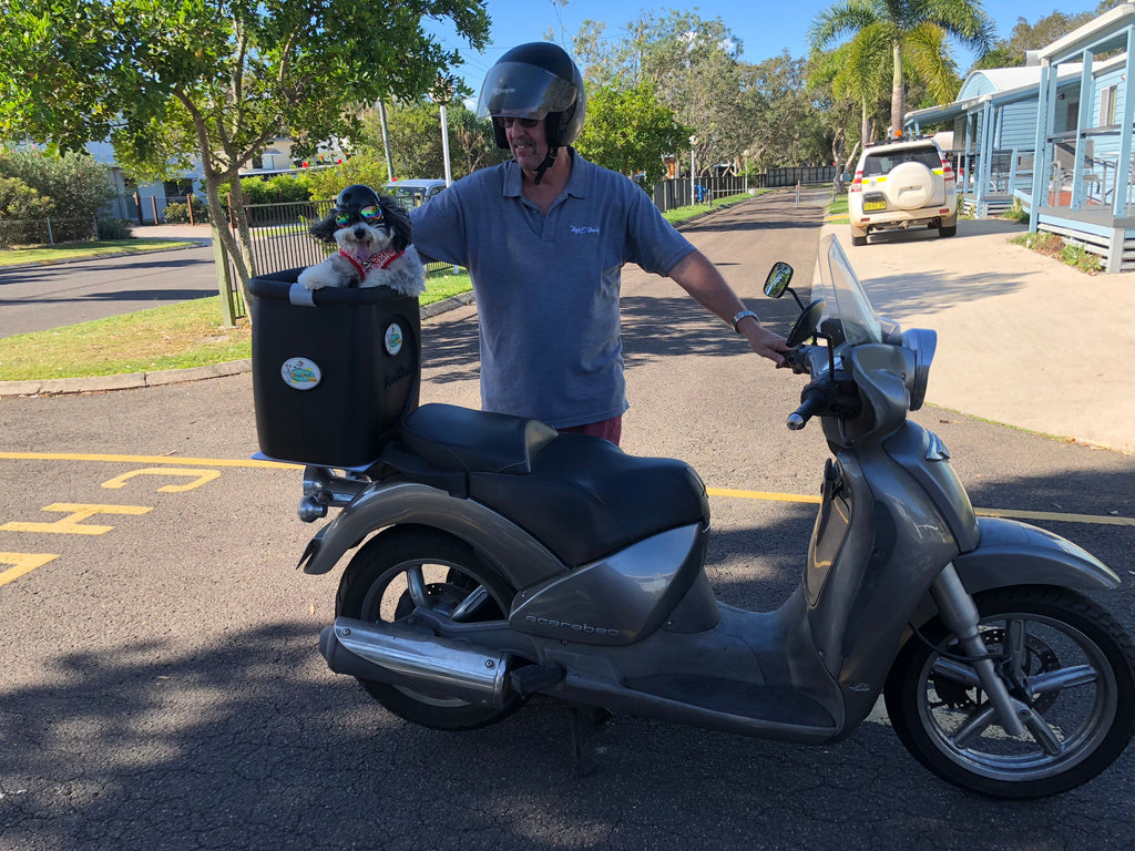 "~Tim and ""Stanley"" outside Queensland, Australia ~"
