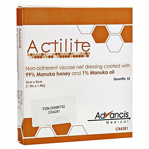 Actilite Dressings Manuka Honey 5cm x 5cm (10)