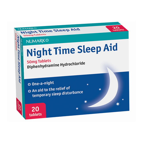 Numark Night Time Sleep Aid 50mg Tablets - diphenhydramine