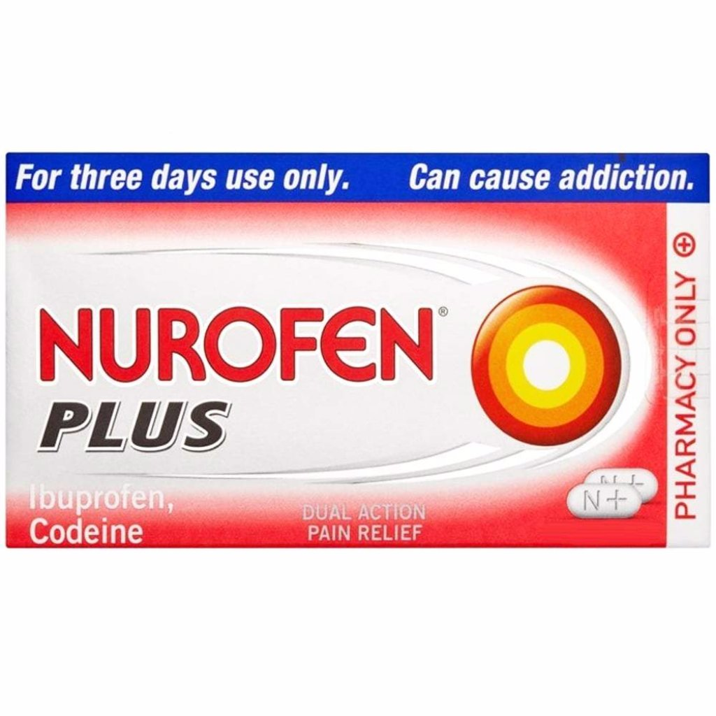Nurofen plus caplets tablets codeine ibuprofen pain relief