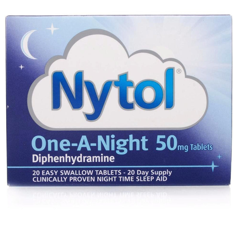 Nytol One-A-Night 50mg Tablets Diphenhydramine 50mg Insomnia