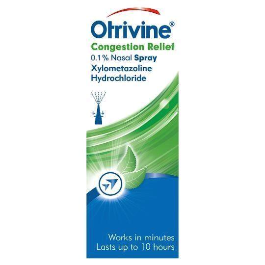 Otrivine Congestion Relief Nasal Spray - 10ml Decongestant