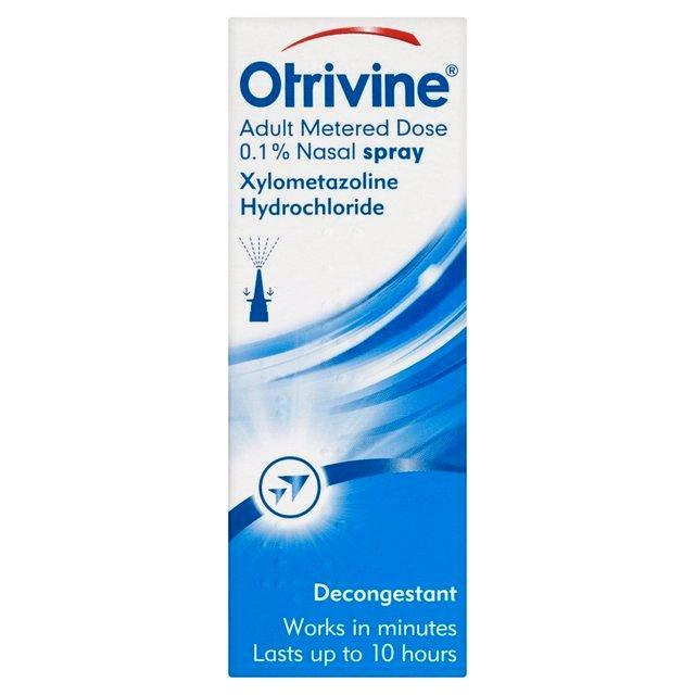Otrivine Adult Metered Dose Decongestant Nasal Spray - 10ml