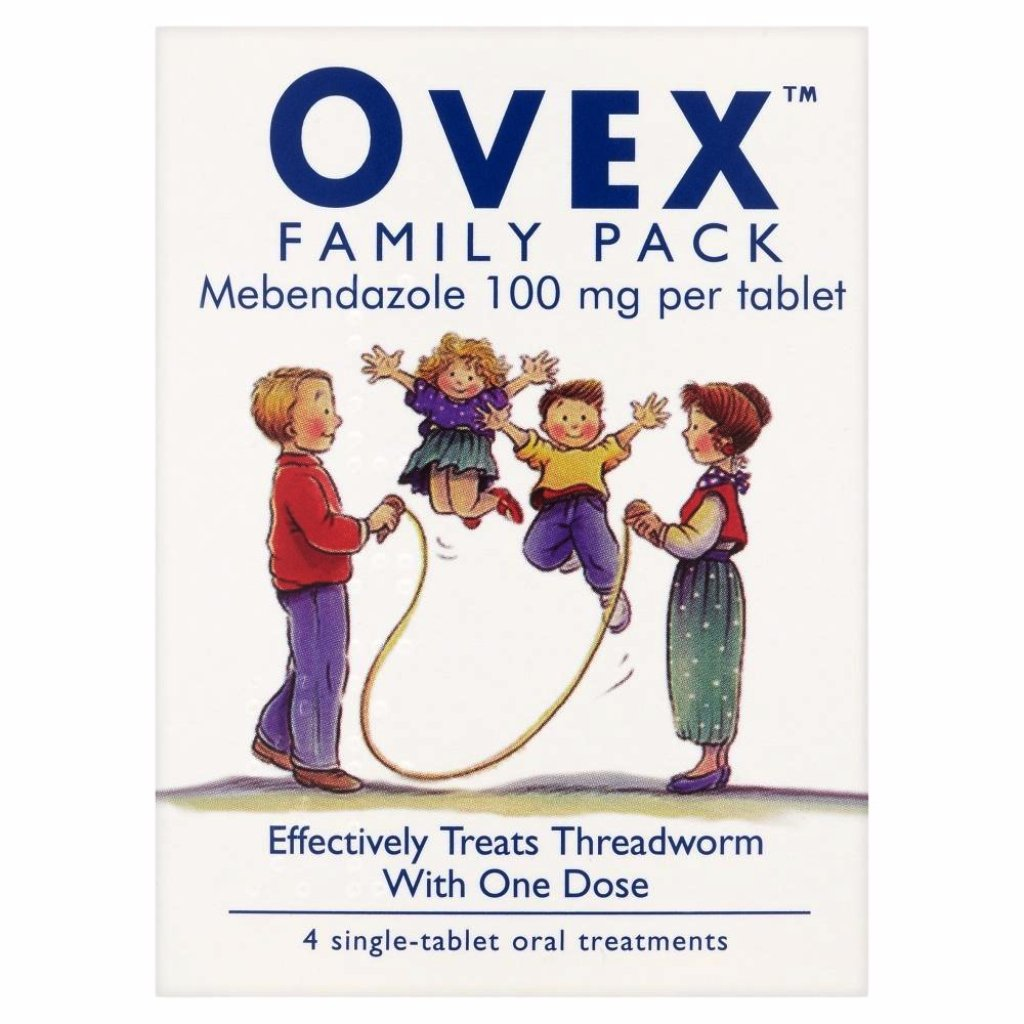 Ovex Threadworm Treatment Tablets Mebendazole 100mg