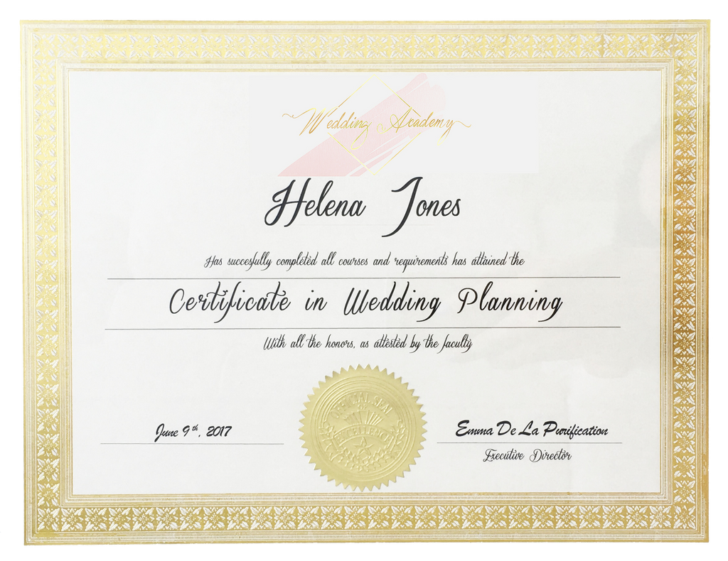 Diplome Wedding Academy