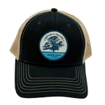 Black Republic Square Patch Trucker Hat