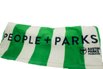 People and Parks Stripes Beach Towel