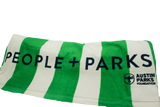 People + Parks Embroidered Beach Towel