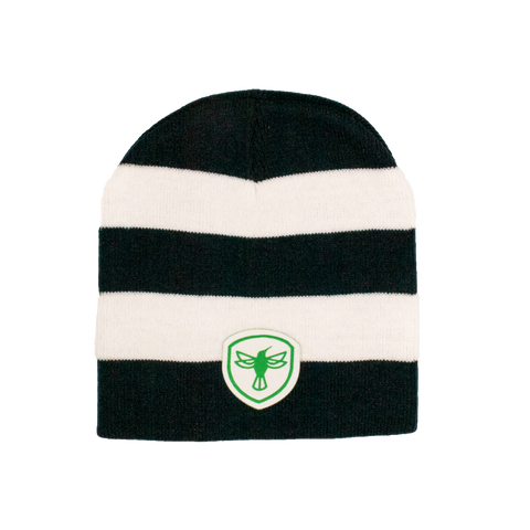 Black and White Beanie with Austin Parks Foundation badge