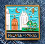 APF People + Parks skyline square enamel pin