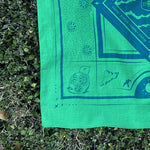 APF bandana blue and green bird