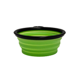 green collapsible dog bowl