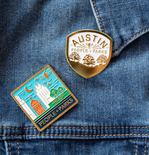 Austin Parks Foundation enamel pins