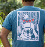 Back of short sleeve t-shirt with front pocket, designed by Fine Southern Gentlemen