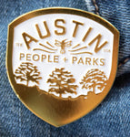 APF People + Parks shield enamel pin