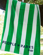 People + Parks embroidered towel