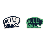 Bull Creek Is Where I'll Be Stickers Green and White