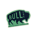 Blue and green bull creek sticker