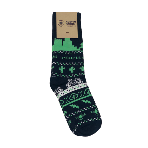 Austin Parks Foundation People and Parks Austinite Socks