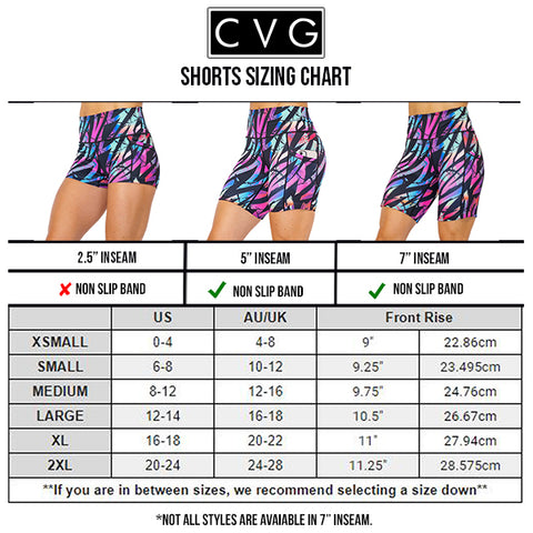 CVG Shorts Size Chart Saved By The 90s Workout Shorts