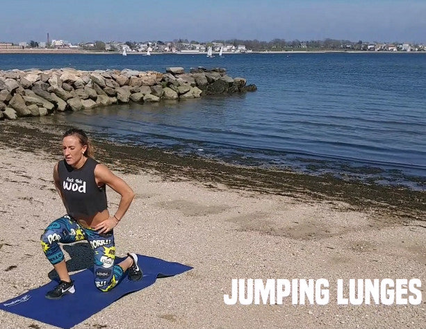 how to do jumping lunges