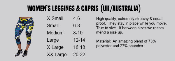 uk australian sizing chart