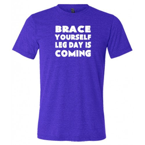 Brace Yourself Leg Day Is Coming Shirt Mens