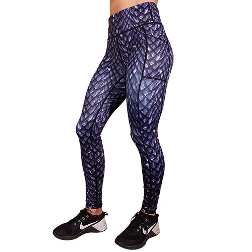Purple Dusk Scale Leggings