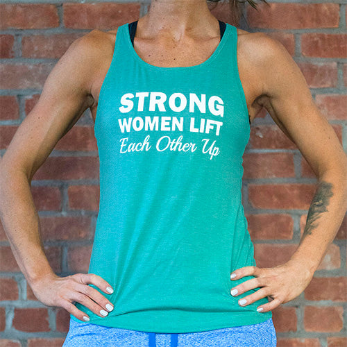 Strong Women Lift Each Other Up Open Back Tank Top