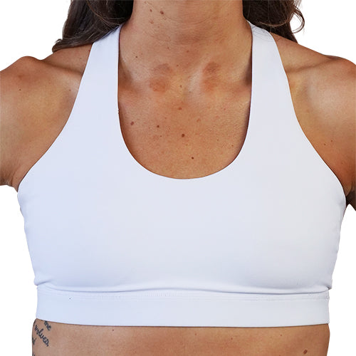 All White Sports Bra