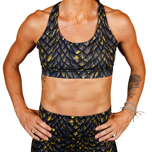 Yellow Dawn Sports Bra