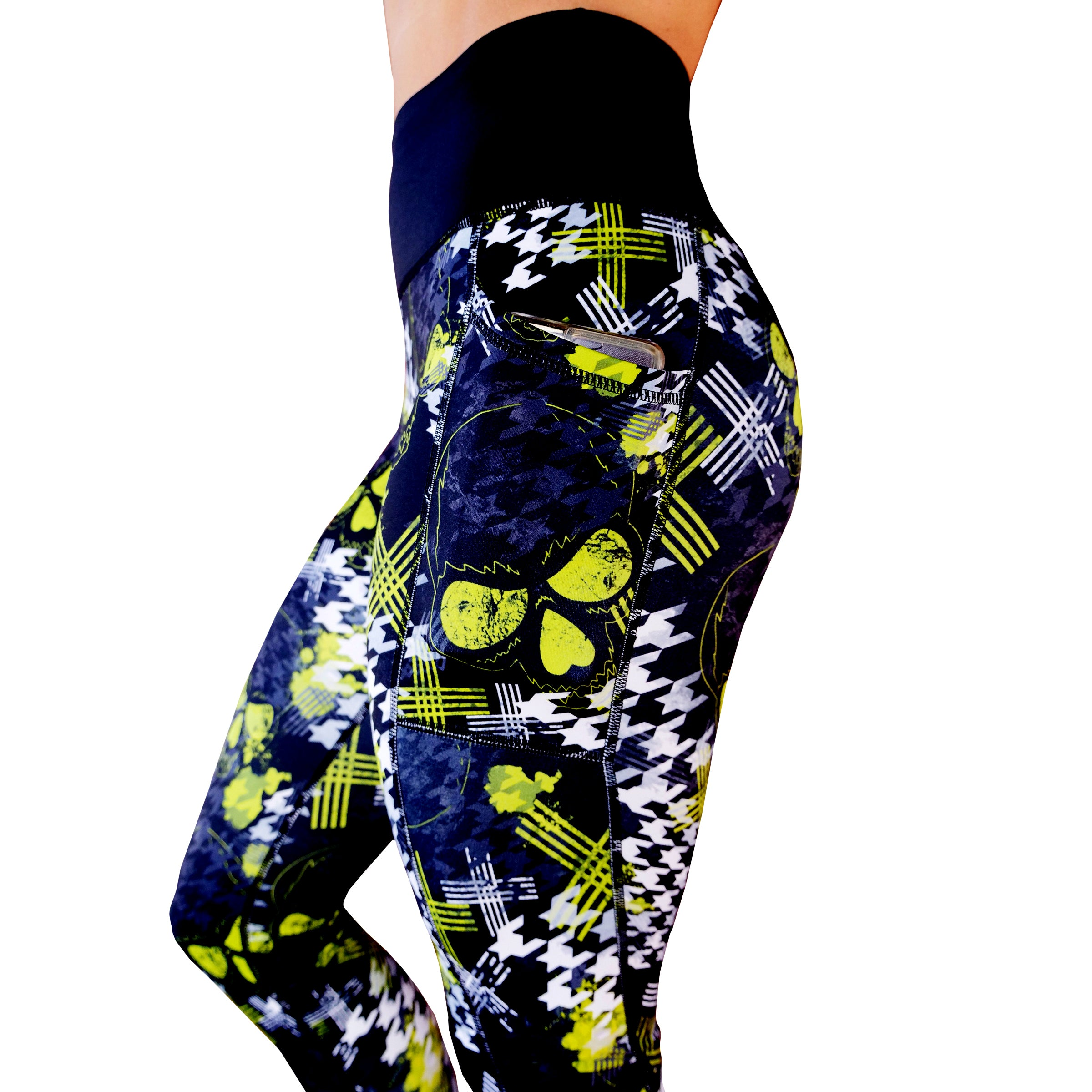 Abstract Skull Leggings