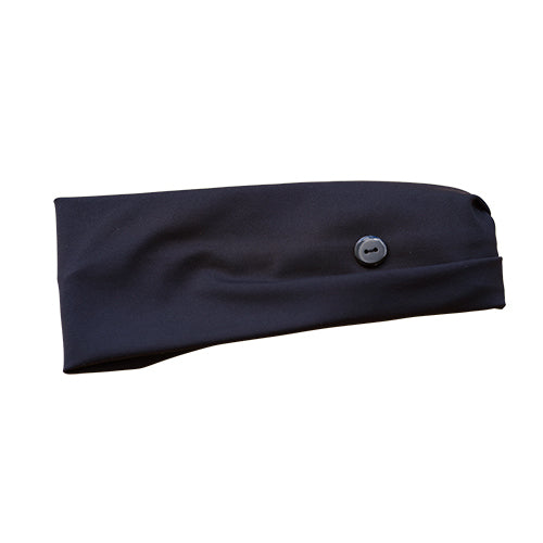 Button Headband - All Black